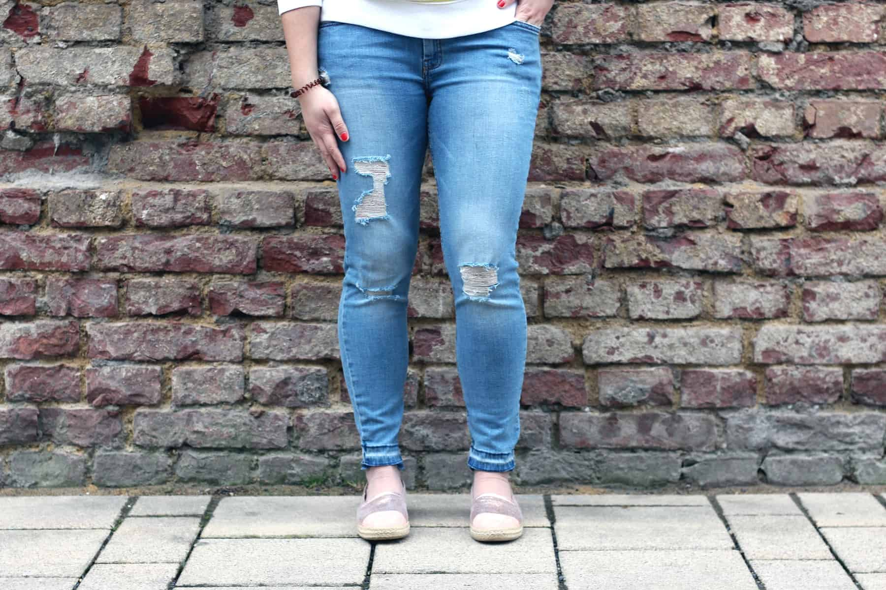 Jeans von Mango: cropped & ripped