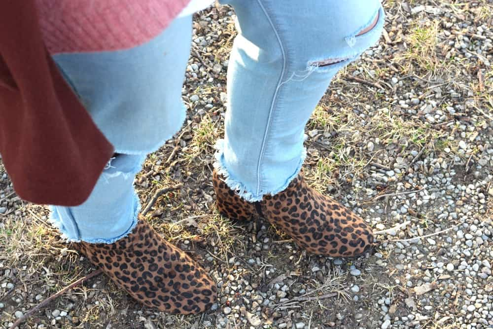 Shoes with Leoprint
