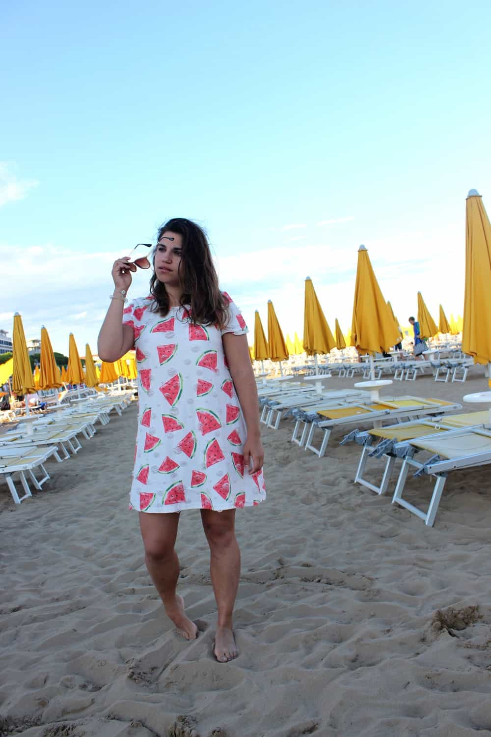 Beach dress with watermelon