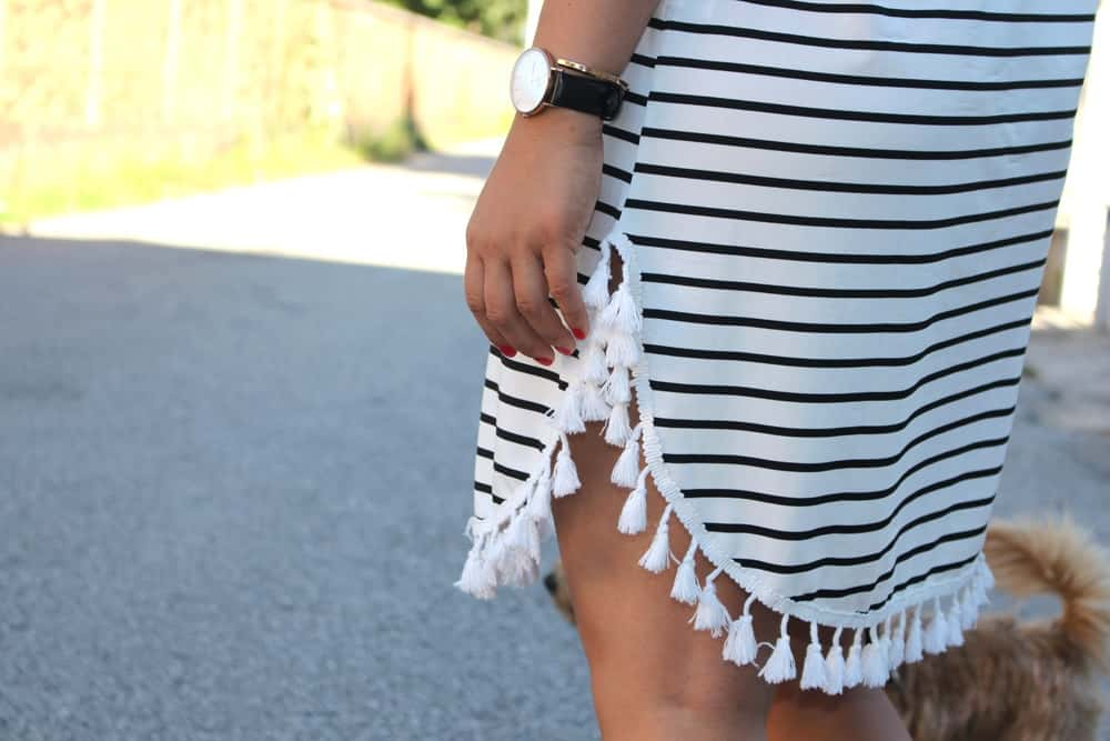 Daniel Wellington and black and white stripes