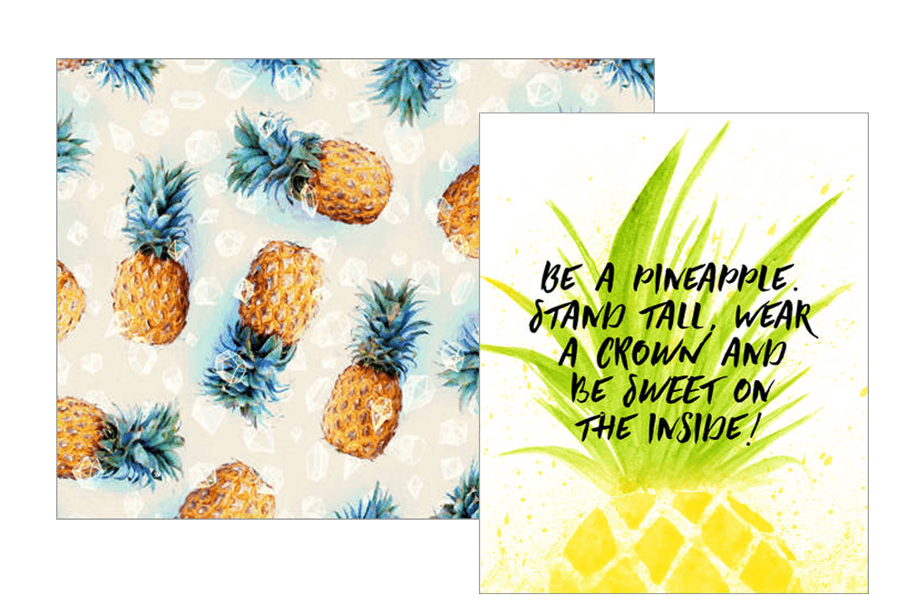 Posterlounge Gewinnspiel: Ananas Poster - be a pineappel stand tall with a crown and be sweet on the inside