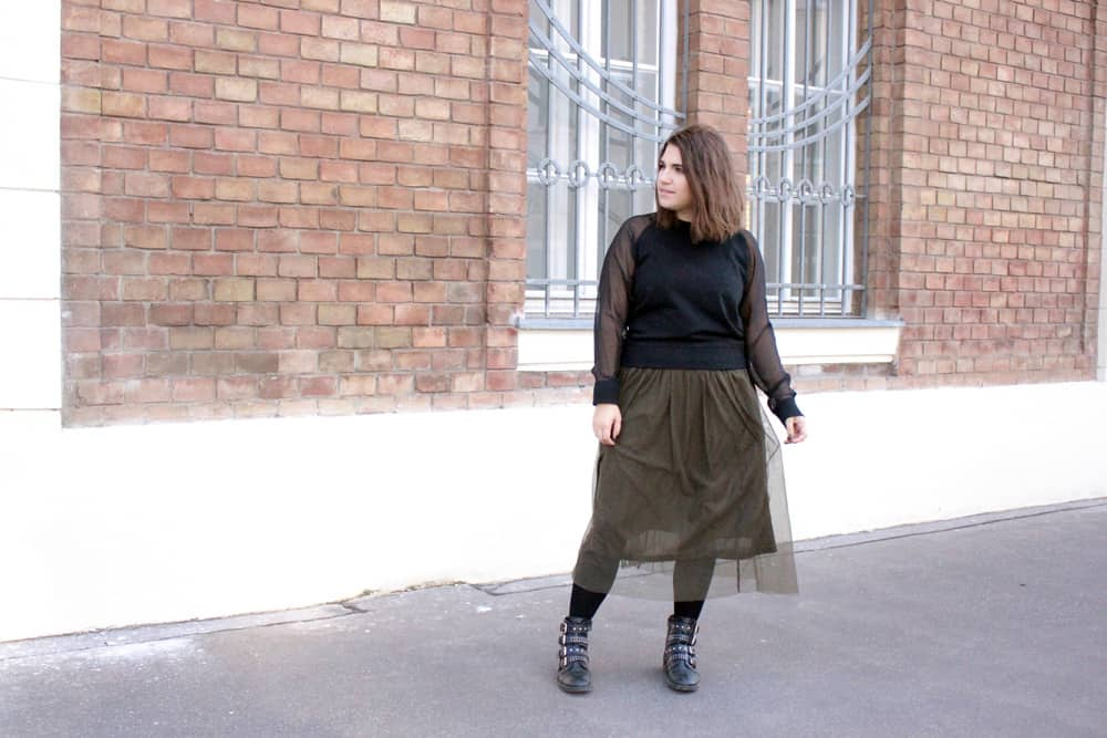 Lifeandcolours Austrianblogger Fashion Outfit Tüll & Bikerboots – Stil-Mix Look