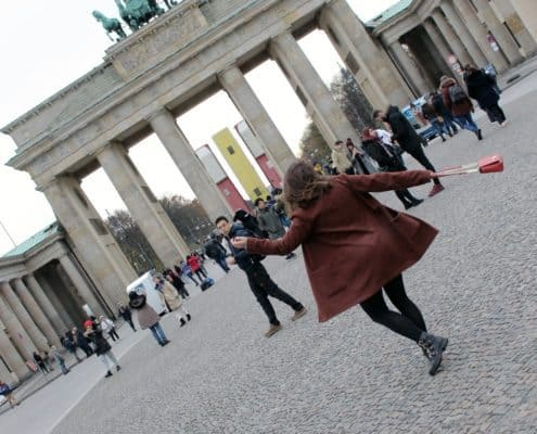 Travel: Tourist in Berlin, Brandenburger Tor